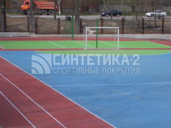 """Объект: """"Школа № 71"""" г. Ростов-на-Дону, Синтетика-2 © 2009"""